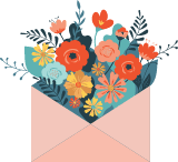 Bouquet in Envelope