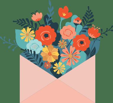 Bouquet in Envelope