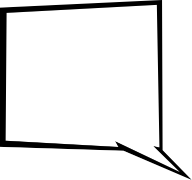Angled Speech Bubble