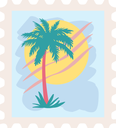Palm Tree Stamp