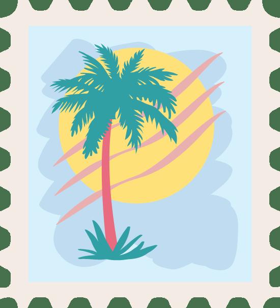 Palm Tree Stamp