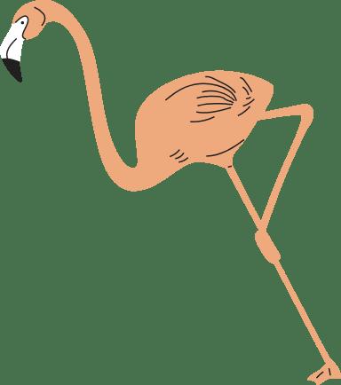 Leaning Flamingo