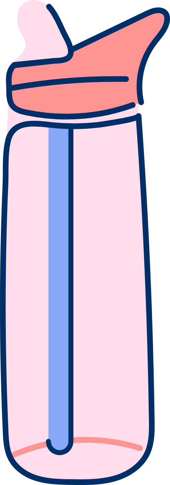 Water Bottle & Straw