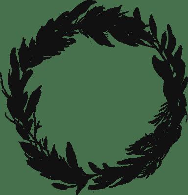 Painted Fern Wreath