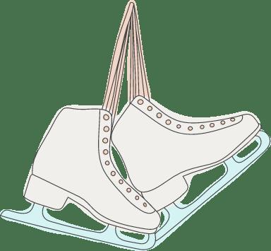 Hanging Figure Skates