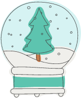 Evergreen Snow Globe