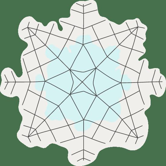 Crackled Snowflake
