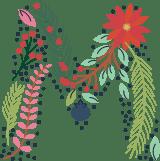 "Floral Letter ""M"""