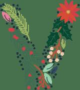 """Floral Letter """"V"""""""