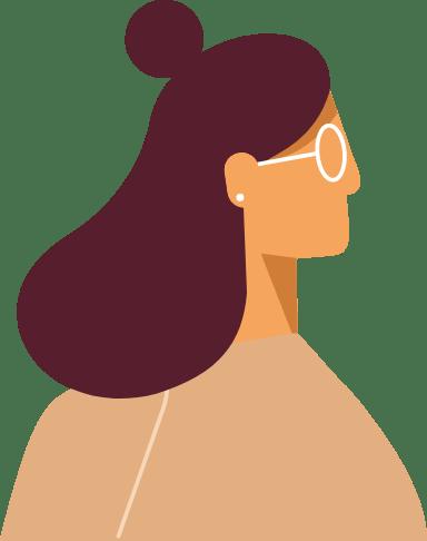 Bun & Glasses Profile Woman