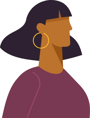 Hoop Earring Profile Woman