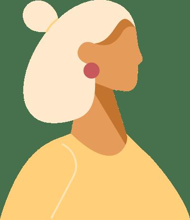 Mini Bun Profile Woman