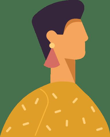 Cropped Hair Profile Woman