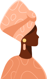 African Turban Profile Woman