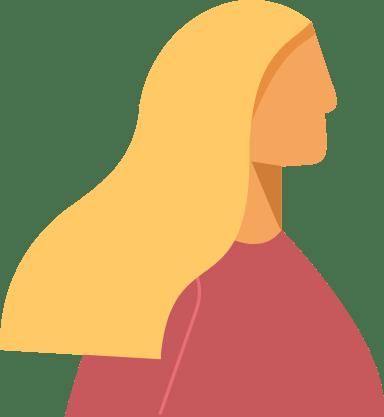 Long Blonde Profile Woman