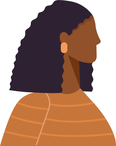 Kinked Hair Profile Woman