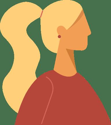 Long Pony Tail Profile Woman