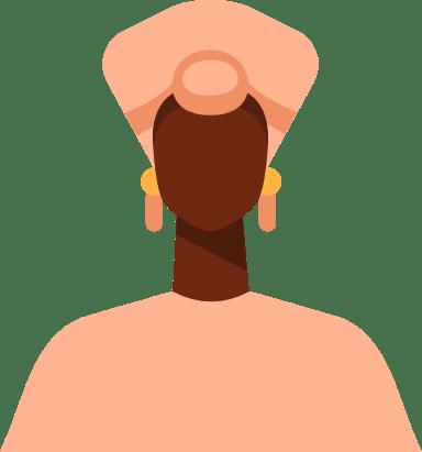 African Turban Woman