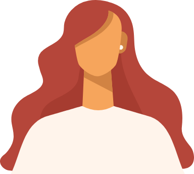 Wavy Red Hair Woman