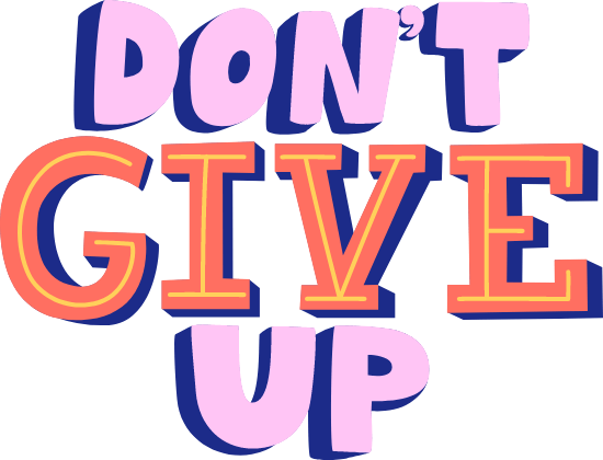 Don't Give Up Text