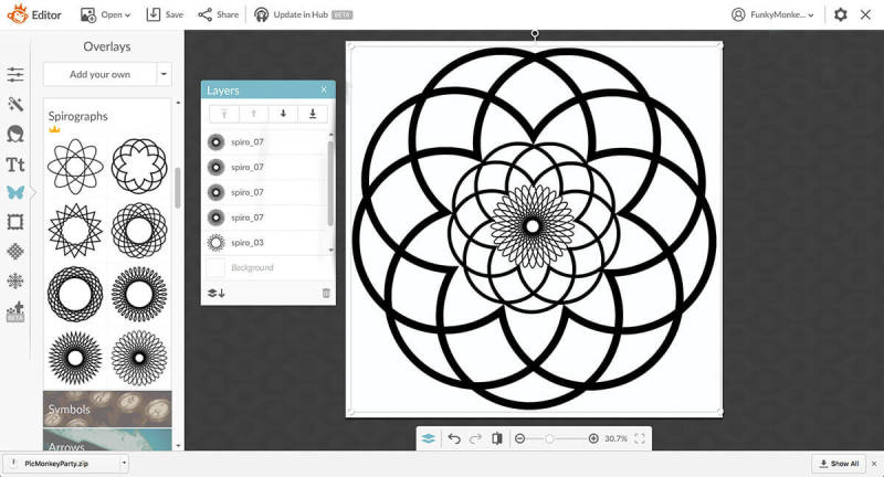 Make a coloring book with PicMonkey graphics.