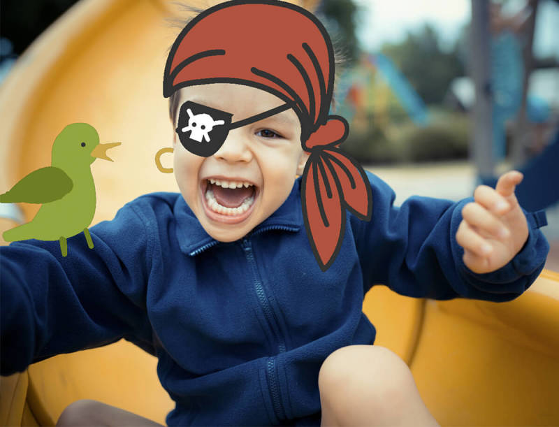 This rascally kid costume is simple to make with the PicMonkey mobile app's Draw tool.