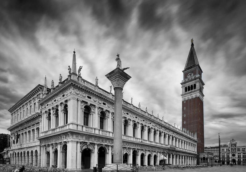 Piazza San Marco, with selective color applied via the PicMonkey app.