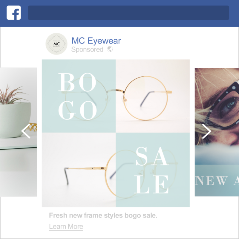 create carousel facebook ads