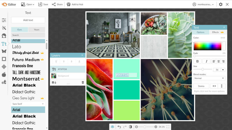 Learn how to make a brand moodboard with PicMonkey's collage tool.