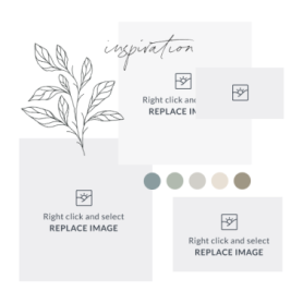 mood board template with neutral tones swap in your own photos