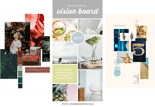 Another way to make a vision board on PicMonkey is to use templates.
