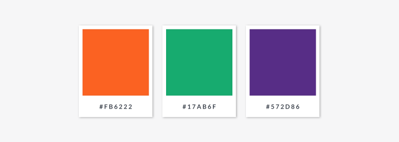 color theory - secondary palette swatches and hex codes