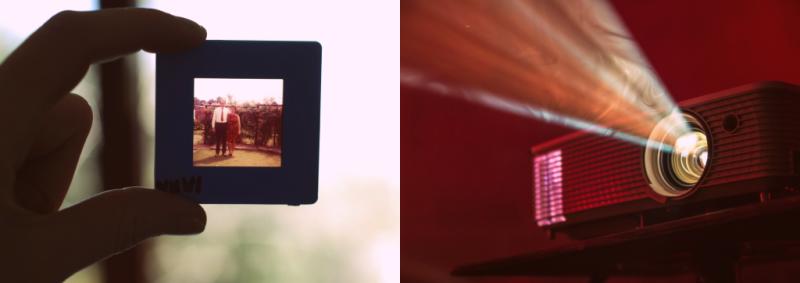 slide film and slide projector image