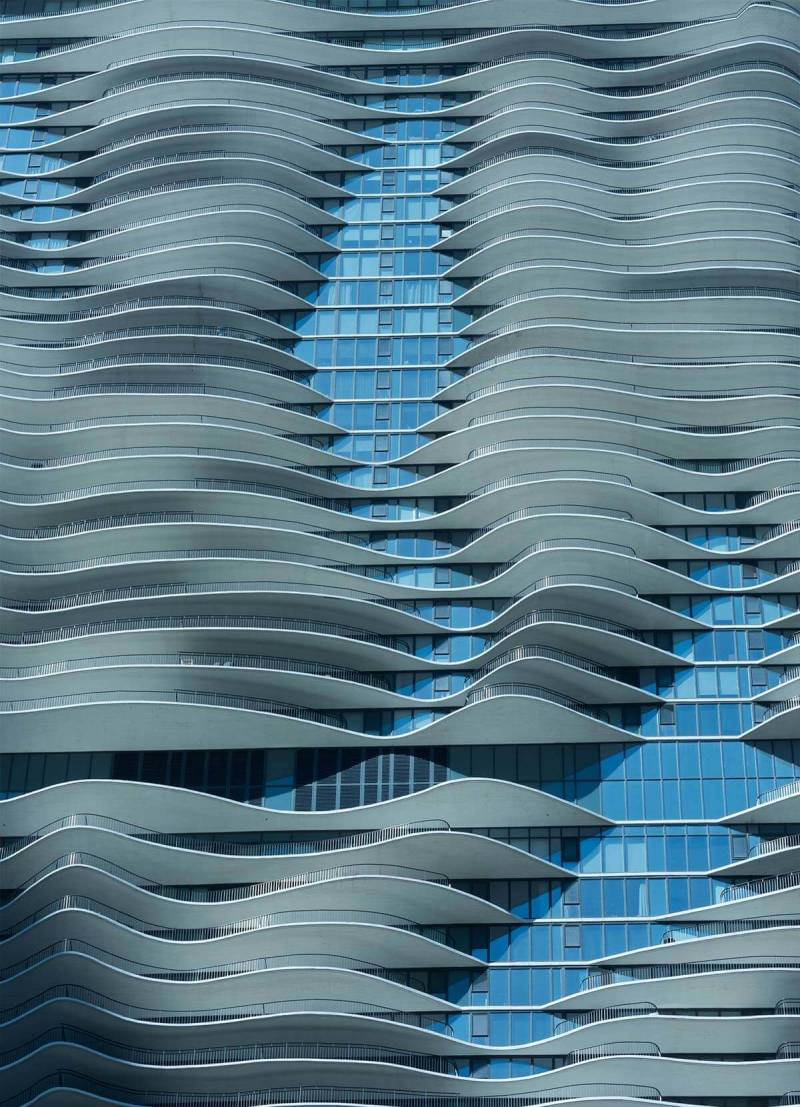 the Aqua building in Chicago, designed by Jeanne Gang. Learn to get great shots with expert architecture photography tips from PicMonkey.