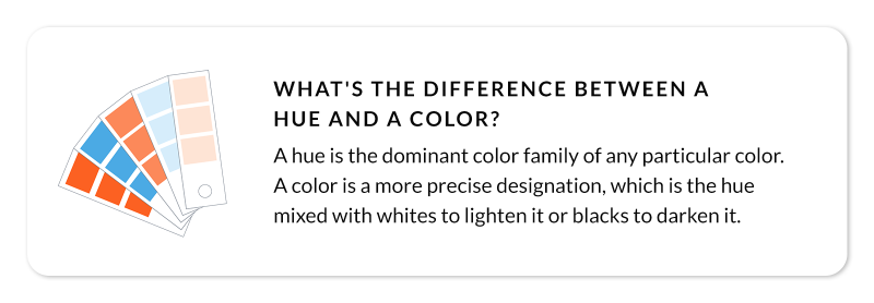 callout question - what's the difference between hue and color