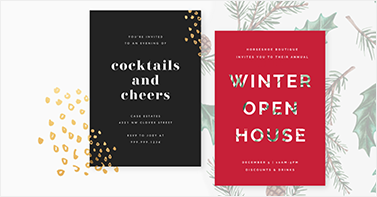 New Year's Cards templates invitations party
