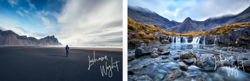 Muchos fotógrafos usan marcas de agua en sus fotos para asegurarse de que nadie las use sin su permiso.