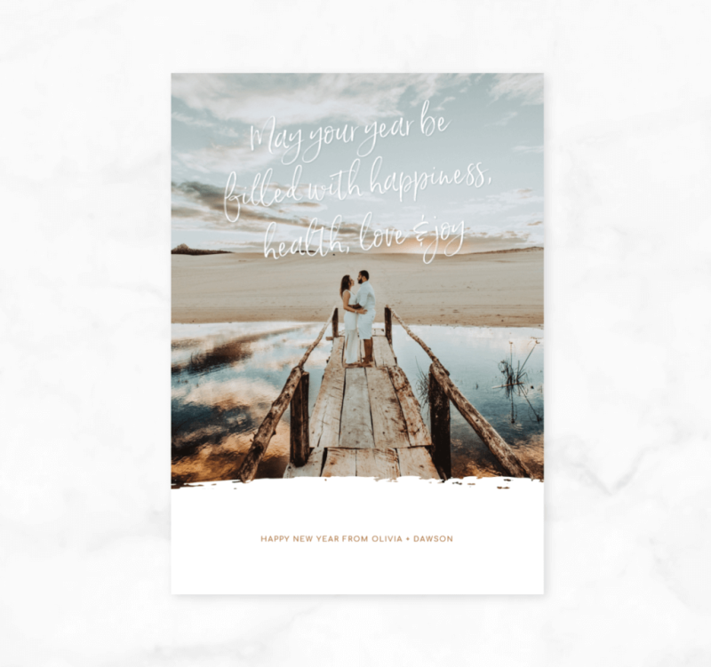 You can customize our New Year's card templates any way you want.
