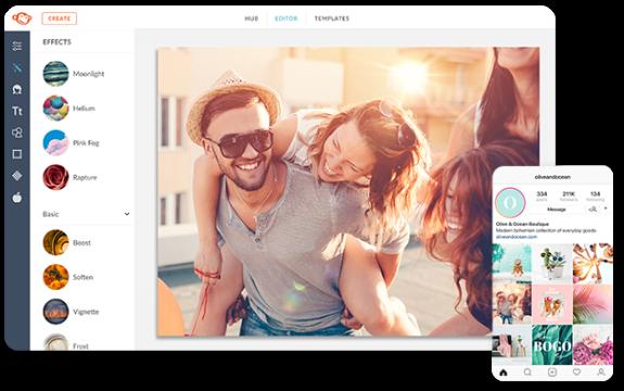 Utilice filtros de fotos tanto en el escritorio como en el móvil picmonkey