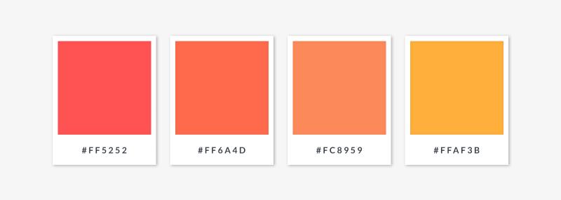 a warm color palette - oranges