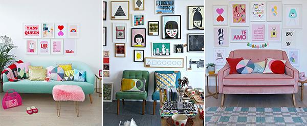 A gallery wall styled three ways