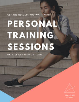 Personal Training Sessions poster template