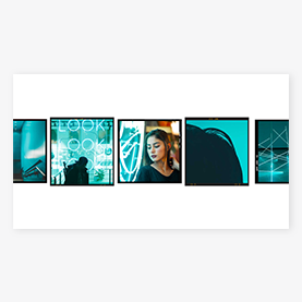youtube channel art cover perfect for a photographer with film frames for your photos