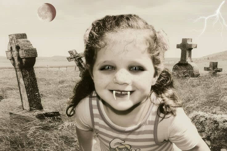 Halloween photo contest: Winner - Irene Moreno's photo entry for the Cute category.