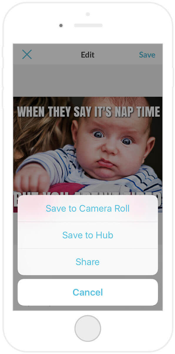 Learn how to make a meme with the PicMonkey mobile app, then share your funny photos or save them for later.