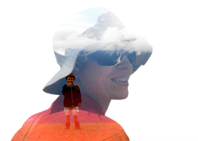 Make a double exposure that tells a story or highlights a favorite memory.