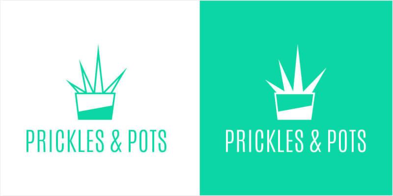 Logo designed with geometric shapes in PicMonkey.