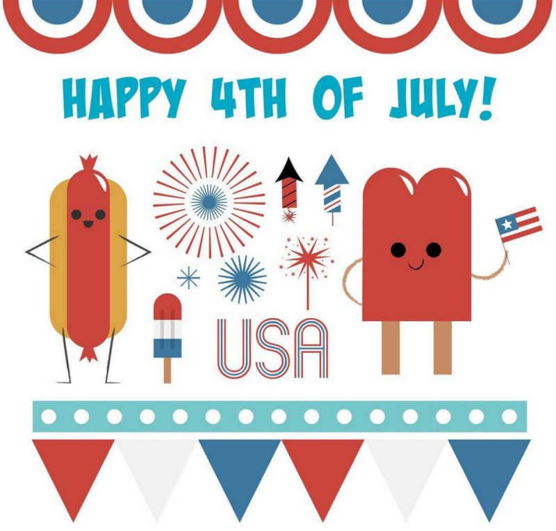 PicMonkeyer-made 4th of July graphic, incorporating our new Stars & Stripes graphics.