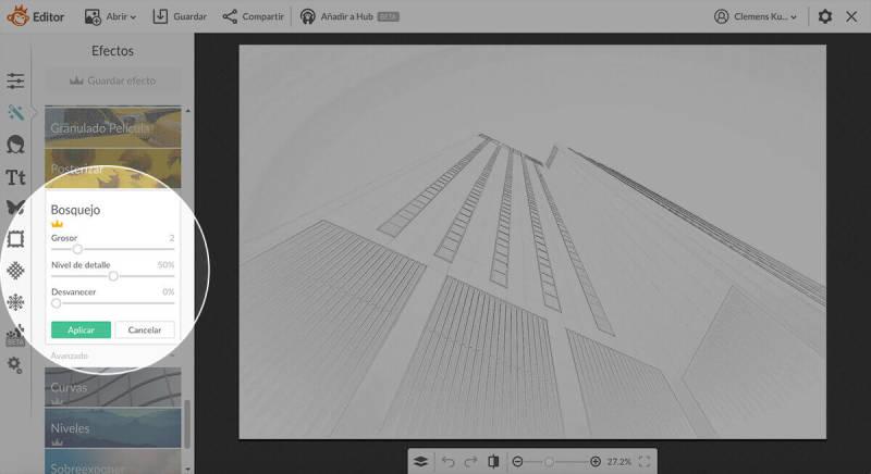 bosquejo, edición de fotos, efectos, convertir foto en boceto