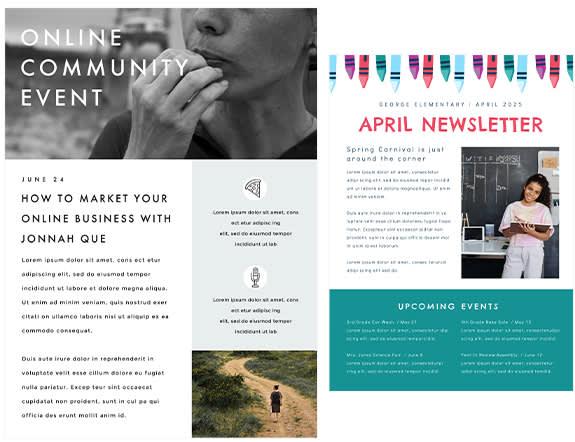 Beautiful newsletter creator templates at PicMonkey